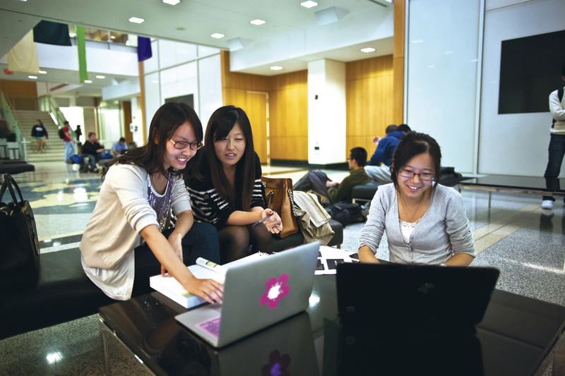 GWSB students studying