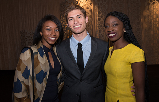 Demetria Clark, Moshe Pasternak, and Sally Nuamah spoke at the 2017 Power & Promise Celebration.