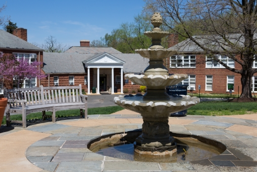The fountain at Mount Vernon.