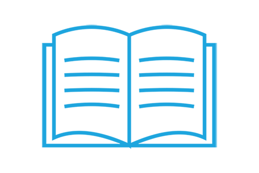 Icon - open book - provide a student with the materials for learning