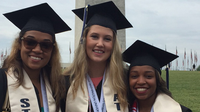 Student Athletes reach their goals at commencement.