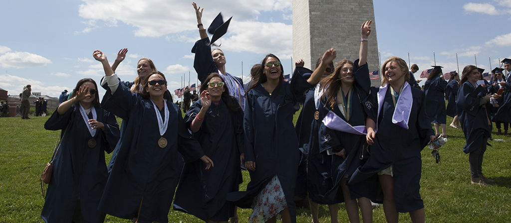 Commencement on the National Mall is a unique experience.