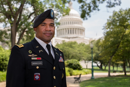 GW Second Service helps bring veterans into the political arena.  This is not a stock photo.