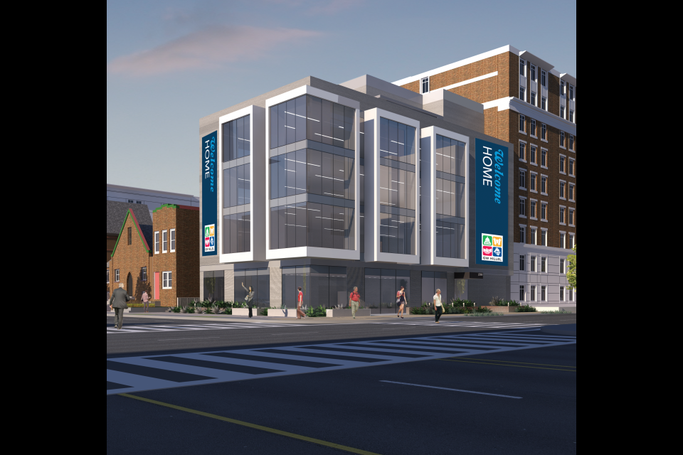Exterior Rendering of the new GW Hillel Building.