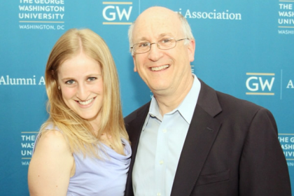 Mark Lederman, BBA'76, MS'81 and daughter, Jodi Lederman, BA '13