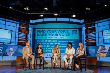 Students share their stories at the annual Planet Forward summit.