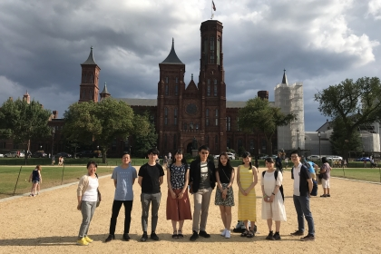 Sugai scholars on National Mall.