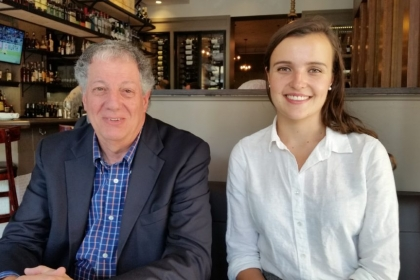 Howard Tischler, MS '80, and Aleksandra Desansky, SEAS '18