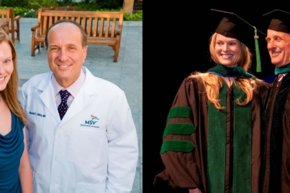 Allison Hoff, MD '15, and Russell Libby, MD '79