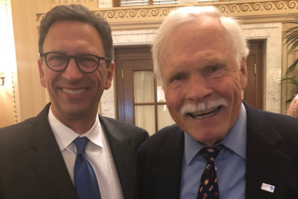 Frank Sesno with Ted Turner