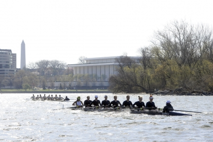 The $200,000 seed gift from GW Rowing alumnus Dave Wilson, SEAS '87, will support racing shells, scholarships, and team travel