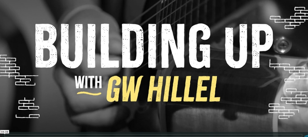 Building up with GW Hillel graphic for video content