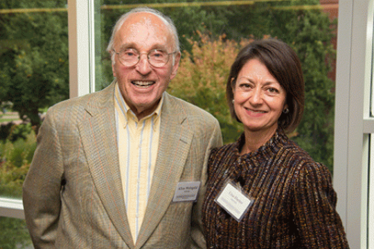 Faculty and Staff at a reception honoring donors.
